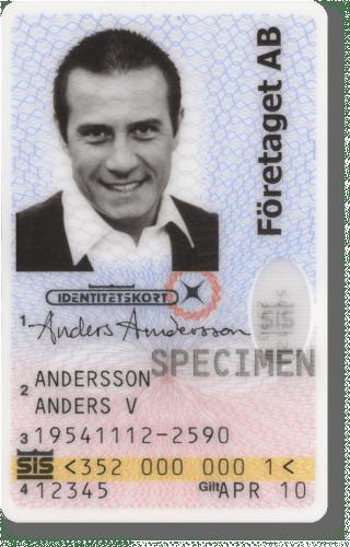 SIS-märkt id-kort från Gemalto Ring Gemalto för kontroll, telefonnummer 08-530 385 13.