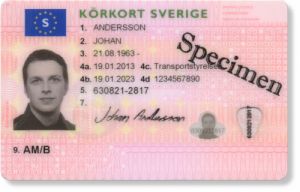 Körkort från Transportstyrelsen&#10Ring Transportstyrelsen för kontroll, telefonnummer 0771-50 25 70.